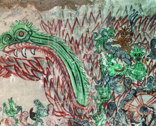 Pintura mural en el Sur Andino